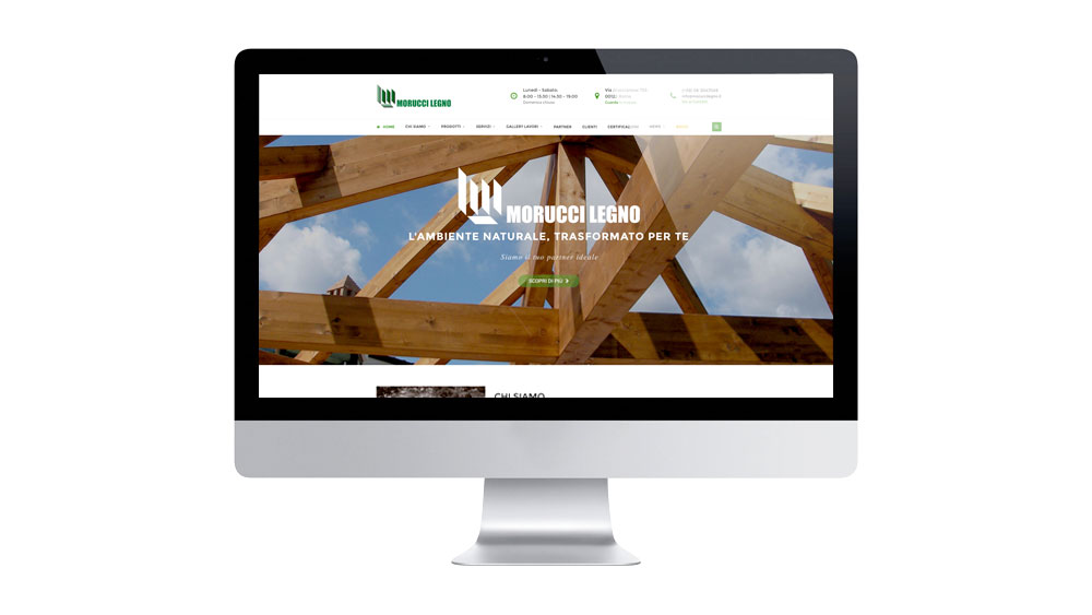È online il nuovo sito di Morucci Legno
